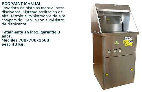 lavadora base disolvente manual